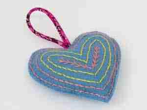felt heart decoration