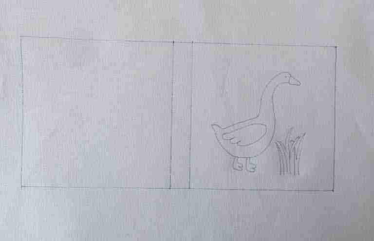 drawn image on fabric