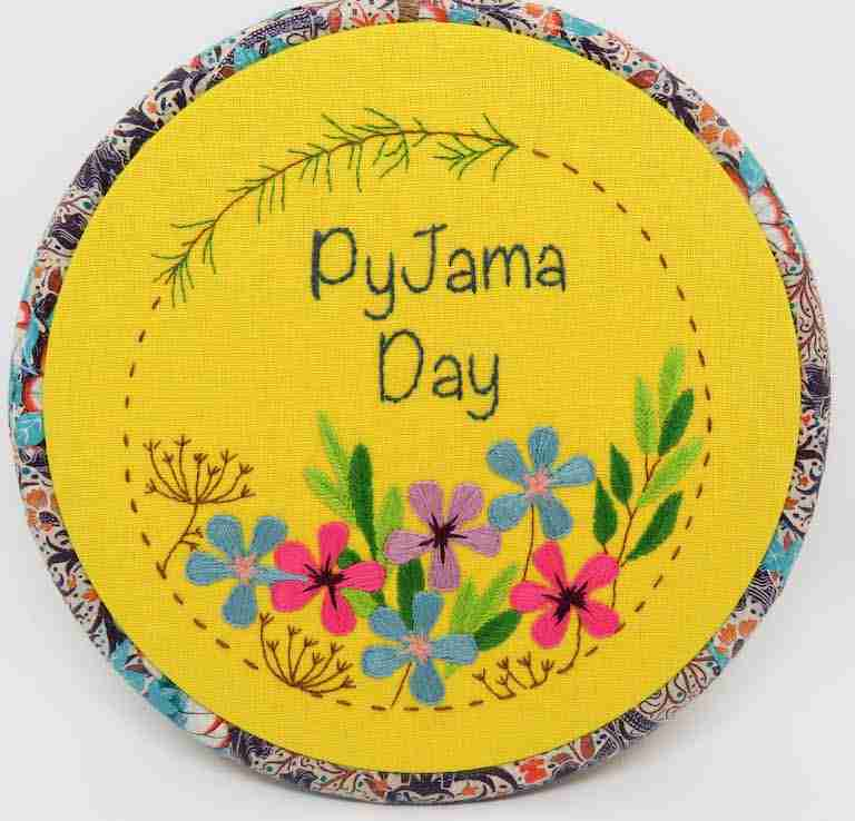 Pyjama Day Embroidery Pattern