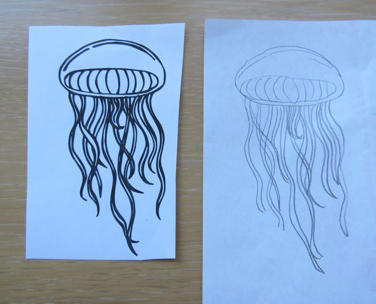 drawing on carbon paper