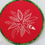 poinsettia hand embroidery
