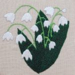 lily of the valley embroidery