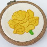 daffodil embroidery