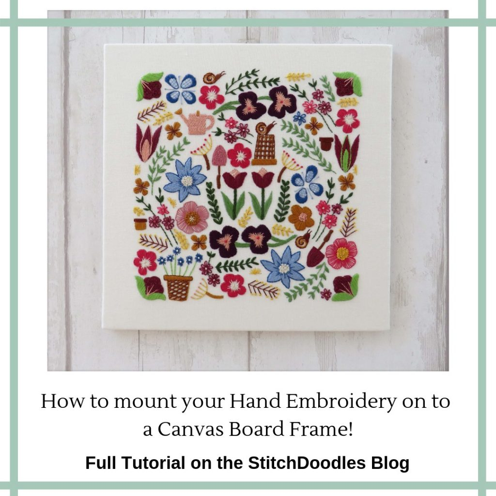 Mounting Embroidery on a canvas frame