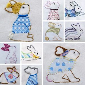 Fanciful Rabbits Pattern by Stitchdoodles