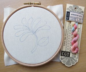 Honeysuckle embroidery Flower