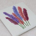 Larkspur hand embroidery pattern