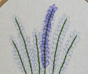 Larkspur free embroidery pattern