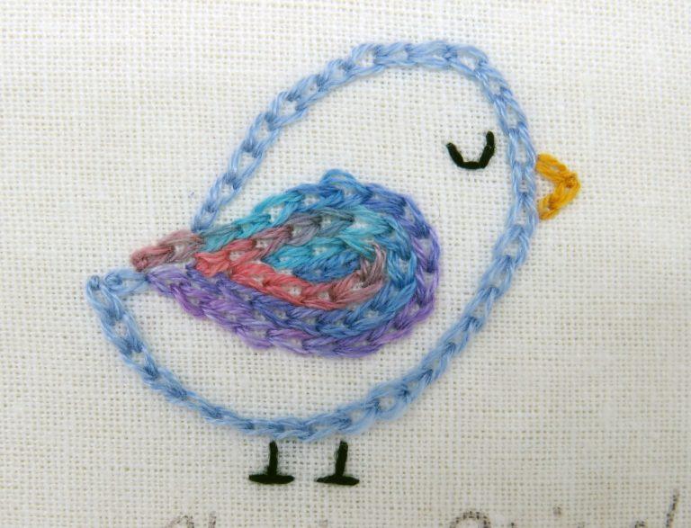 chain stitch bird