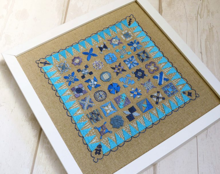 framing hand embrodiery