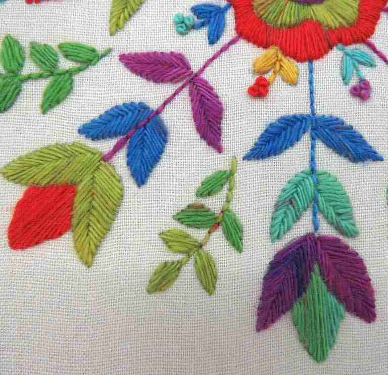 hand embroidery flower pattern