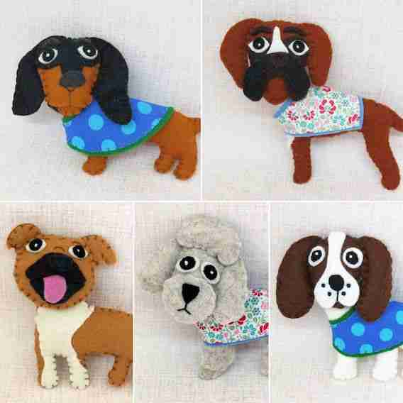 felt dog breed sewign patterns