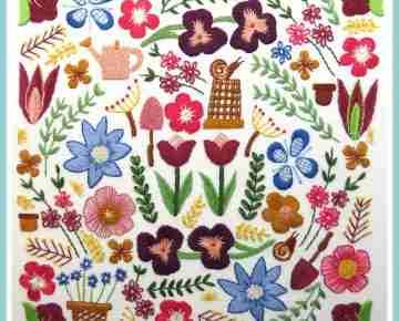 garden flowers embroidery