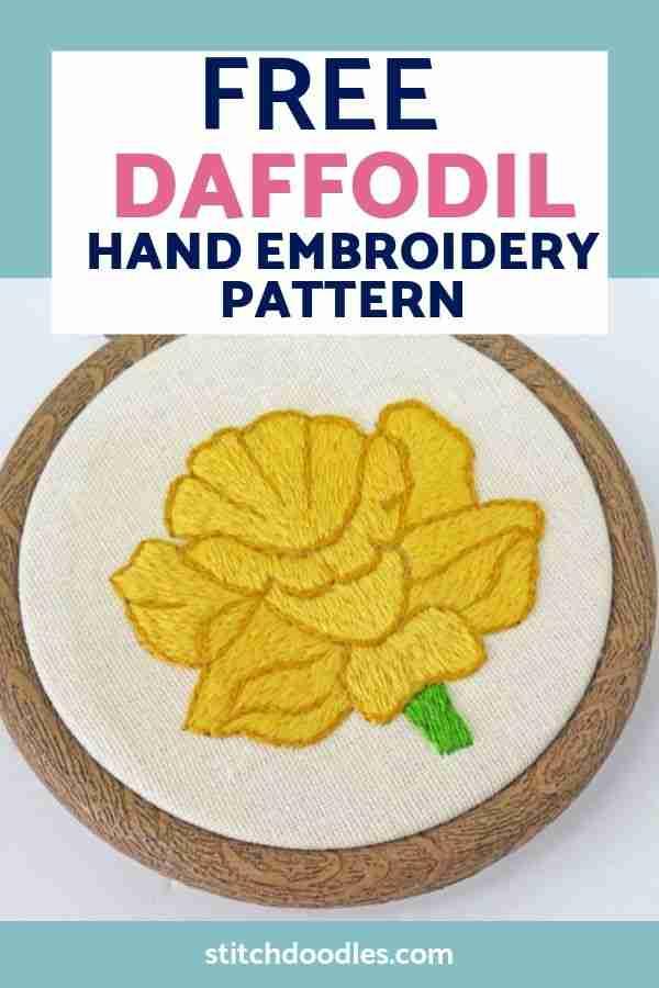 daffodil embroidery pattern