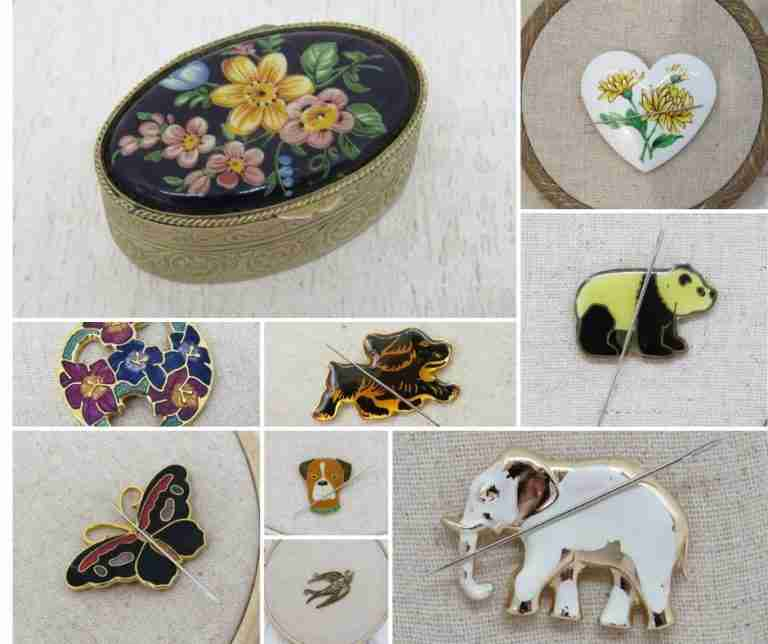 needle minders for hand embroidery
