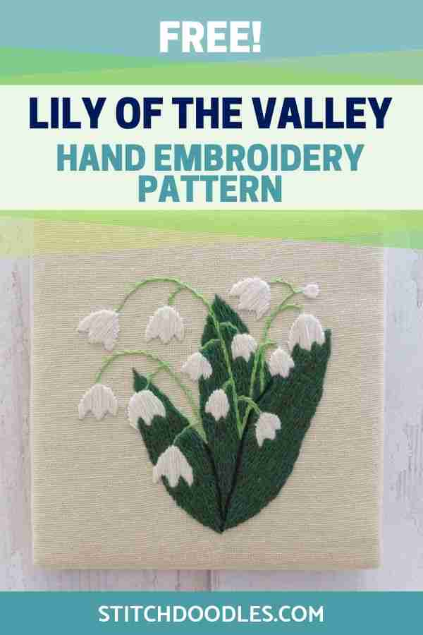 Lily of the valley embroidery pattern