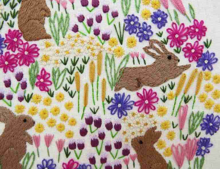 Wildflowers and rabbits