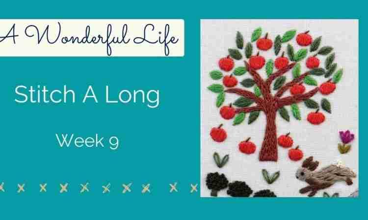 embroidered apple tree