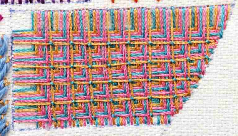 battlement filling stitch