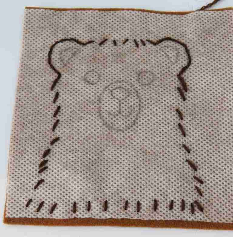 Bear embroidery pattern