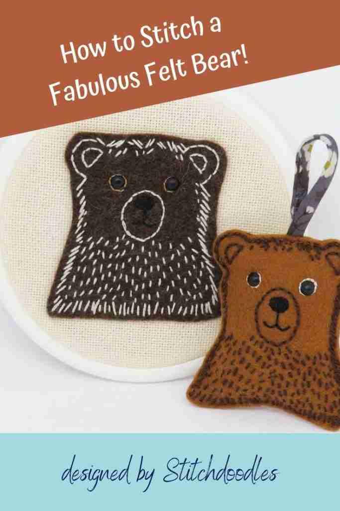 bear embroidery tutorial