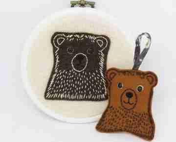 Bear embroidery pattern
