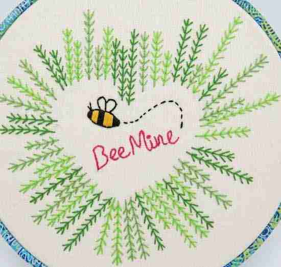 bee mine embroidery pattern