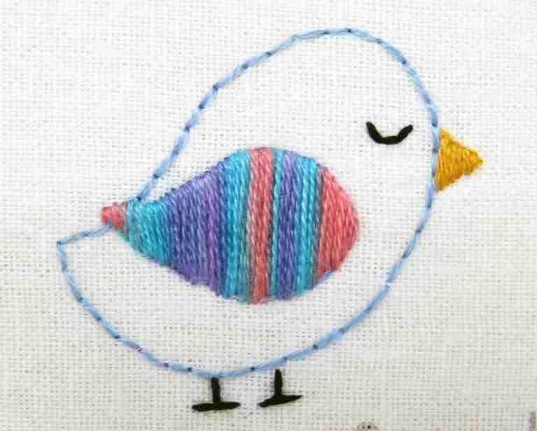 bird satin stitch