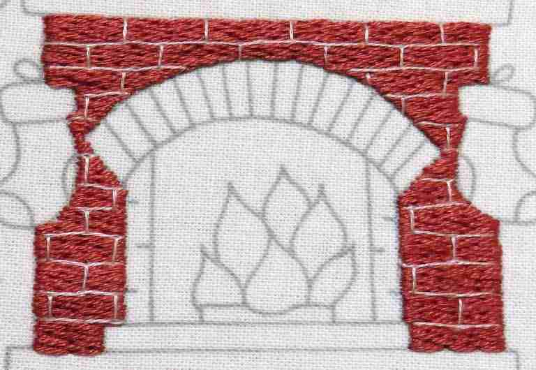 hand embroidery fireplace