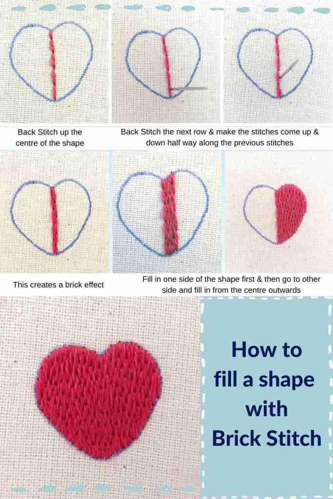 filling a shape with brick stitch