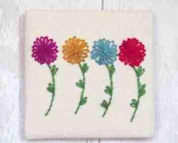 Chrysanthemum embroidery pattern
