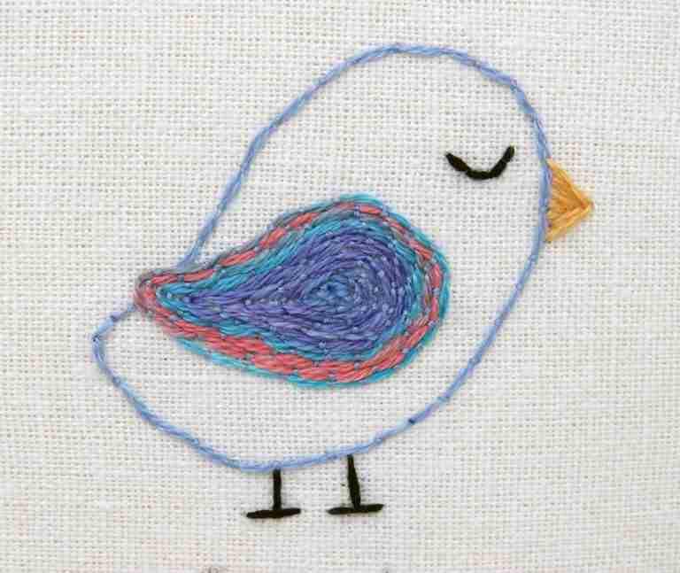 couching bird