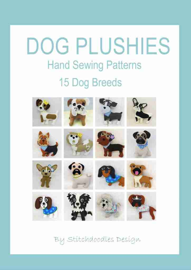 dog breed felt plushie pattern Ebook.