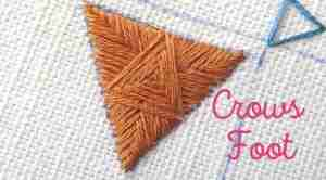 Crows foot hand embroidery stitch