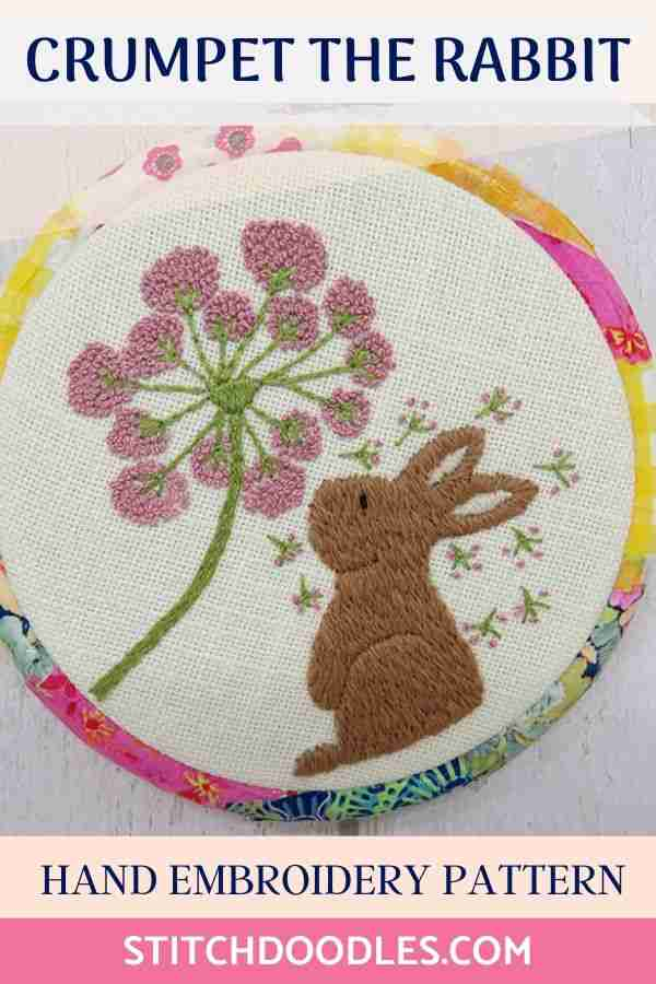 rabbit hand embroidery pattern