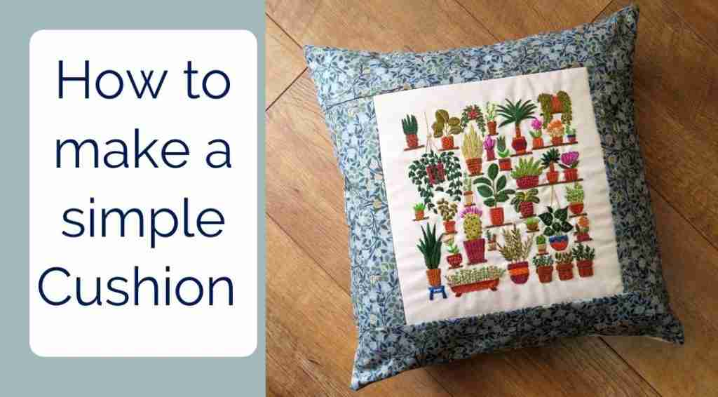 how to make a simple cushion