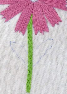 daisy embroidery pattern