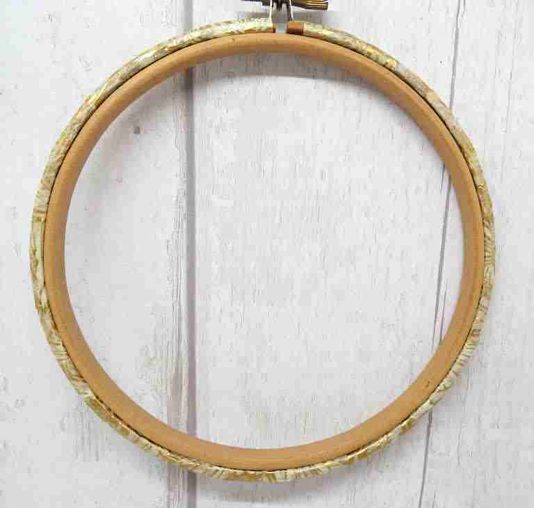 decoupage embroidery hoop