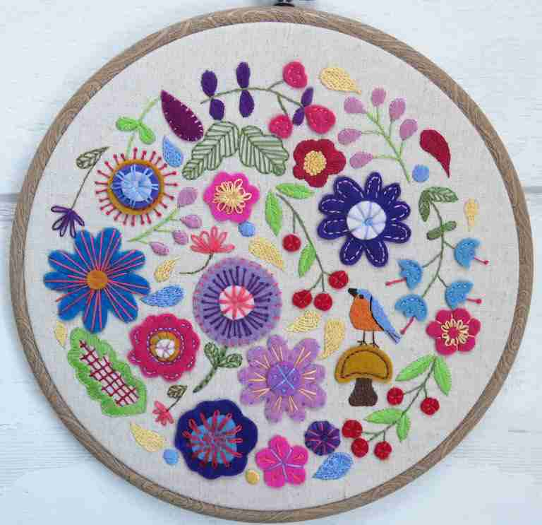 Enchanted Garden Embroidery Pattern
