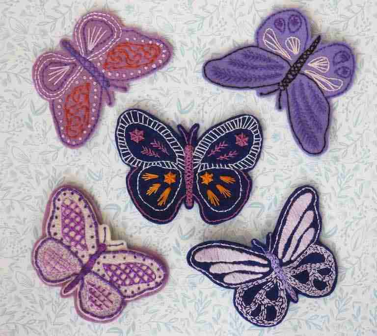 butterfly embroidery