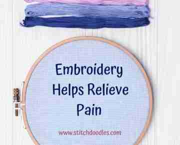 embroidery helps relieve pain