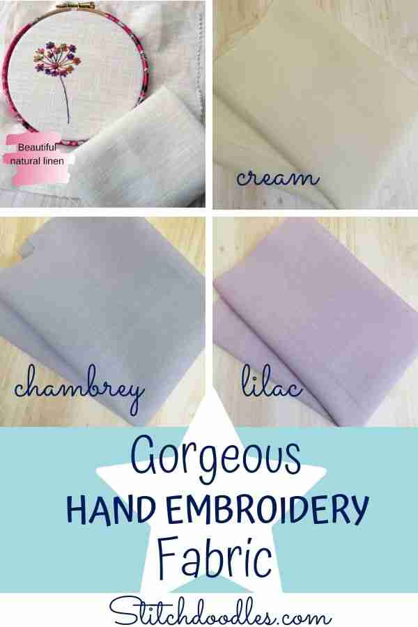 hand embroidery fabric guide