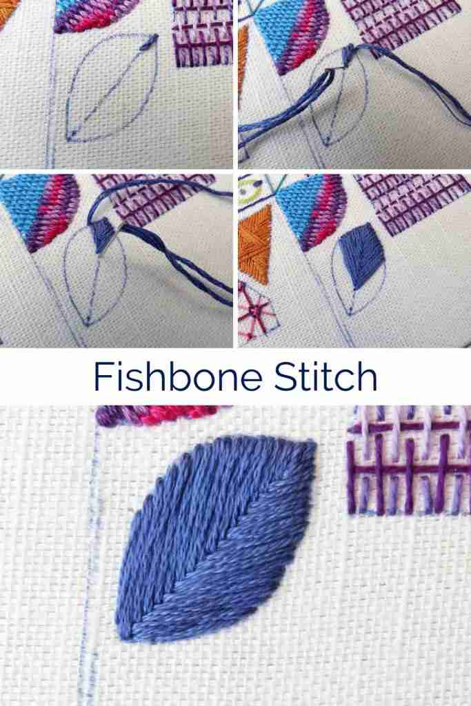 Fishbone stitch tutorial