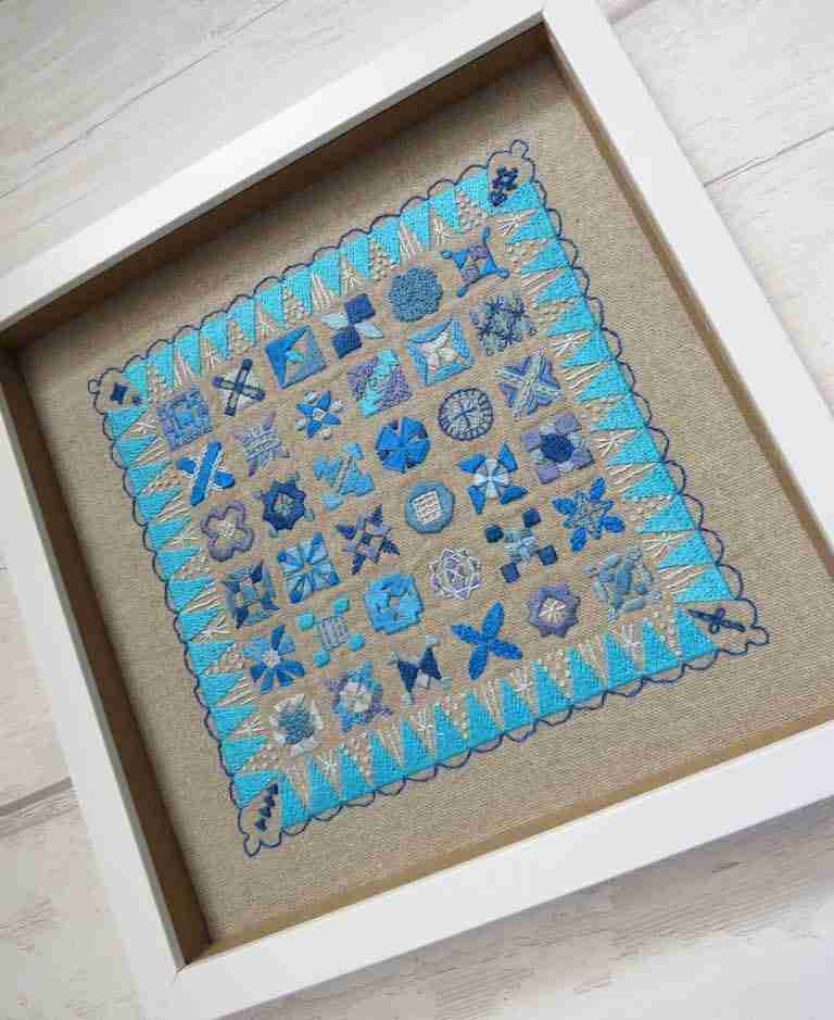 framing hand embroidery