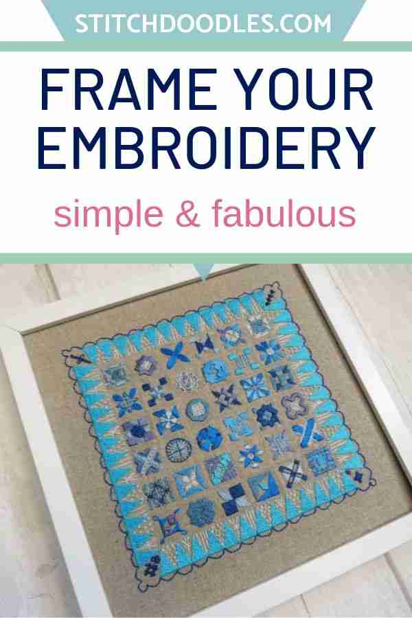 frame your embroidery
