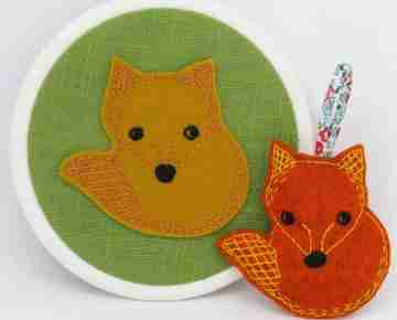 Fox embroidery pattern