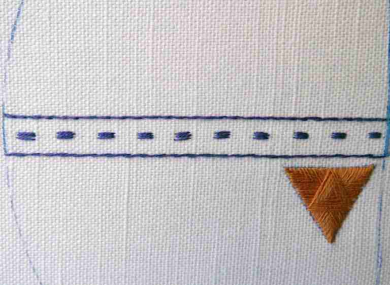 how to stitch guilloche stitch
