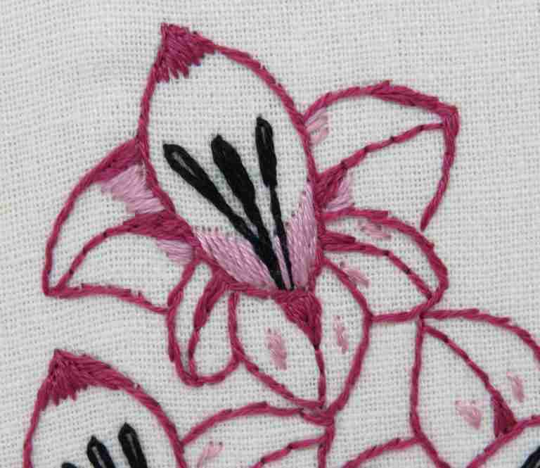 gladiolus embroidery pattern