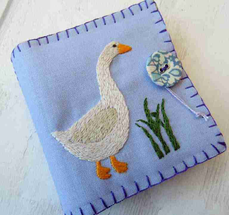 hand embroidery needlebook