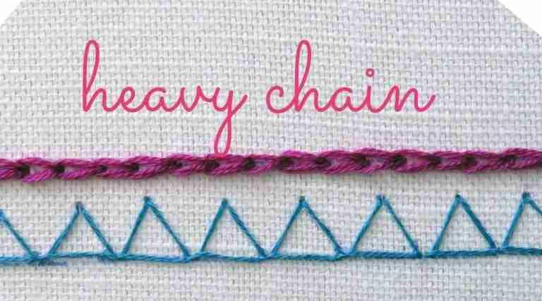 heavy chain stitch